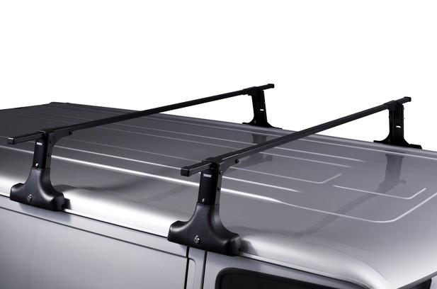 Thule 420 verhoogbare voetenset voor auto's met een regengoot